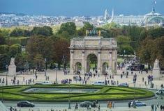 Triumphal arch in Paris, located in the Carrousel Square, Paris, Stock Photos