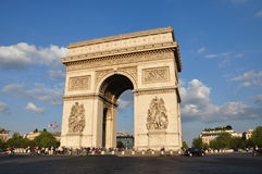Triumphal Arch from Paris, in a sunny day. Royalty Free Stock Photography