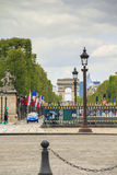 The Triumphal Arch in Paris Royalty Free Stock Photography