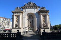 Triumphal arch Porte de Paris in Lille, France Stock Photography