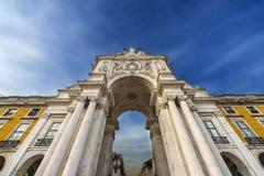Triumphal Arch in the Praca do Comercio in Lisbon, Portugal. Detail of the Triumphal Arch in the Praca do Comercio in Lisbon, Portugal Royalty Free Stock Photography