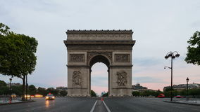 Triumphal Arch with road stock footage