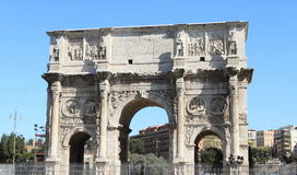 Triumphal arch in Rome. Ancient Triumphal arch of Costantine in Rome, Italy Stock Photo