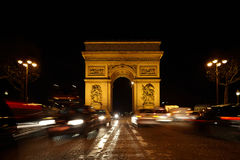 Triumphal Arch on SDG square at night Royalty Free Stock Image