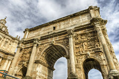 Triumphal Arch of Septimius Severus in the Roman Forum, Italy Stock Photos