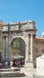 Triumphal Arch of Sergius. Pula. Croatia. Stock Photos