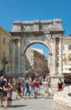 Triumphal Arch of Sergius. Pula. Croatia. Stock Images