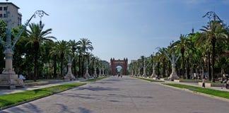 Triumphal arch square. Stock Photo