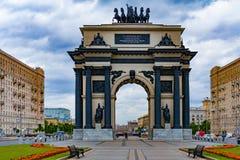 Triumphal arch in the square stock photo