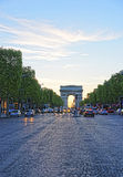 Triumphal Arch of the Star in Paris in France Stock Photography