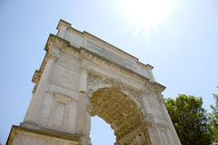Triumphal Arch of Titus in the Roman Forum Stock Images