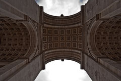 Triumphal arch. Viewed from below Stock Photo