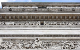 The triumphal arch.On the walls there are battles. Battle of Je Royalty Free Stock Photography