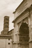 Triumphal Arches, Arch of Septimius Severus, Roman Forum, Rome, Italy, Europe Royalty Free Stock Image
