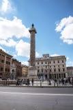The Triumphal Column of Marcus Aurelius in Rome Italy Royalty Free Stock Photo
