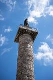 The Triumphal Column of Marcus Aurelius in Rome Italy Stock Photography