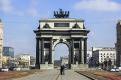 Triumphal gate in order to commemorate Russia& x27;s victory over Napoleon. royalty free stock photos