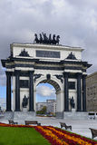 Triumphal Gate on Victory Square Stock Photography