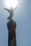 Triumphal victory column in Berlin. Triumphal victory column, the monument in Berlin, in the afternoon, head over to the consecration of the sun, the blue sky Royalty Free Stock Image