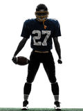 Triumphant american football player man silhouette Stock Images