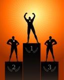 Triumphant Athletes Stock Photos