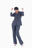 Triumphant businesswoman Royalty Free Stock Photo