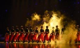 Triumphant-Grassland man-Chinese folk dance Royalty Free Stock Photos