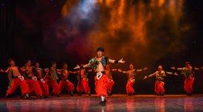 Triumphant-Grassland man-Chinese folk dance Stock Photo