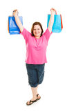 Triumphant Shopper Stock Image