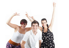 Triumphant young Royalty Free Stock Images