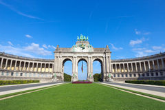 Triumphbogen - Brüssel lizenzfreies stockbild