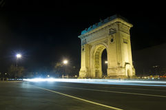 Triumphbogen in Bucharest Stockfoto