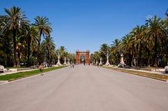 Triumphbogen in der neo-maurischen Art. Barcelona. lizenzfreie stockbilder