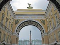 Triumphbogen des Generalstabs, St Petersburg Lizenzfreie Stockfotos