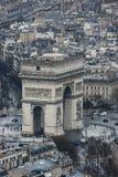 Triumphbogen vom Eiffelturm Lizenzfreie Stockfotografie