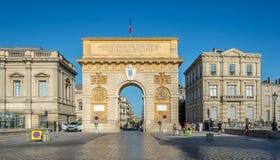 Triumphbogen von Montpellier Lizenzfreies Stockfoto