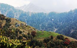 Triund Mountain. Himalaya. India Stock Photos
