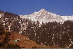 Triund Trekking route Kangra HImalayas India Stock Photos