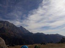 Triund wzgórza wierzchołek, McLeodganj zdjęcie stock