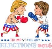 Triunfo contra el boxeo 2016 de la elección de Hillary
