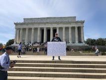 Triunfo contra Lincoln imagen de archivo libre de regalías