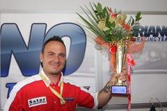 Triunfo Daytona de Suriano del podium Fotografía de archivo