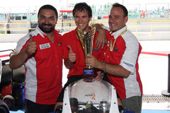 Triunfo Daytona de Suriano del podium Imagen de archivo