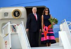 Triunfo de Donald Trump y de Melania Imágenes de archivo libres de regalías