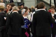 Triunfo de la ayuda de Amish de la vieja orden Fotografía de archivo