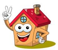 Triunfo de la mascota del casa o casera de la historieta o gesto divertido de la victoria aislado libre illustration