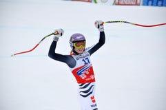 Triunfo de Maria Hoefl-Riesch em Sochi Imagem de Stock