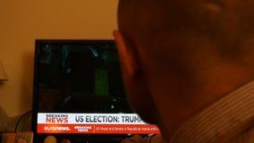 Triunfo de Melania - presidente noticias de última hora almacen de metraje de vídeo