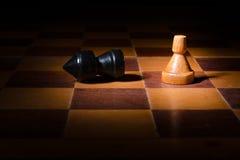 Triunfo del ajedrez Foto de archivo libre de regalías