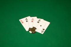 Triunfo en el casino Foto de archivo libre de regalías